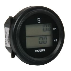 Lcd Dc 8 48v Snap On Double Hour Meter For Diesel Generator Tractor