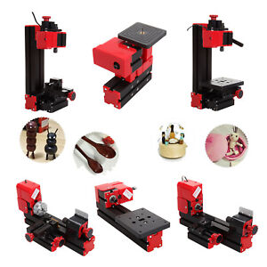 6 In 1 Mini Diy Wood Metal Motorized Lathe Grinder Driller Miller Machine Set