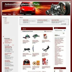 Automotive Replacement Parts Online Business Website For Sale Free Domain Name