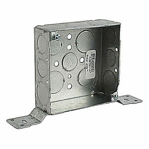 12 Thomas Betts Galvanized Steel Outlet Box 4 Sq 1 5 Deep With Bracket