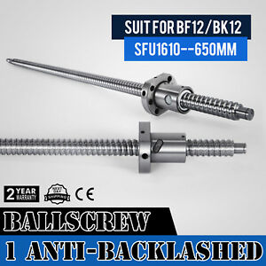 Anti backlashed Ballscrew Sfu1610 650 Rm1610 Accurate Cnc Set Ball Nut Hot