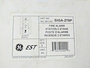 Edwards Siga 270p Fire Alarm Station 2 Stage Red New
