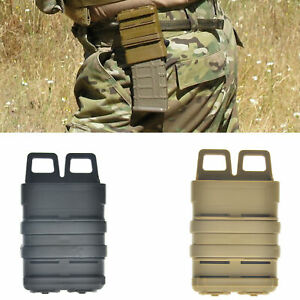 Tactical Fast Mag Attach Belts Magazine Pouch 5.56 Molle Strike Holster
