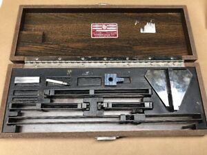 Starrett Webber Steel Gauge Block Gage Base Clamps Accessory Set Ac11a Radius