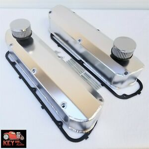 Ford Fabricated Valve Covers Tall Long Bolt Satin Aluminum 289 302 351w Sbf