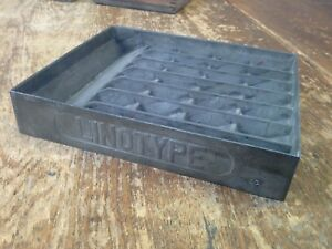 Linotype Brass Mats With Metal Rack Letterpress Very Old