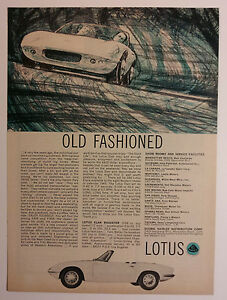 1965 Lotus Elan Roadster Ad Must See