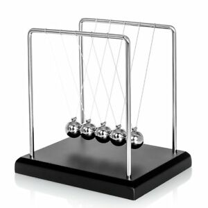 Newtons Cradle High Quality 5 Pendulum Balls Big Newtons Cradle Balance Metal