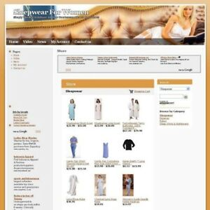 Established Women Sleepwear Work At Home Business Website For Sale Free Domain