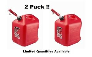 Gas Cans 5 gallon 2 pack Midwest Can Company 5600 Poly Gas Can Two Units Red