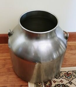Vintage Stainless Steel Milking Bucket Can Pail 14 Primitive