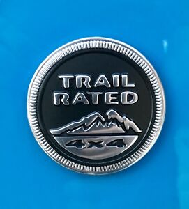 Trail Rated 4x4 Emblem Decal Medallion Jeep Wrangler Jk Grand Cherokee Renegade