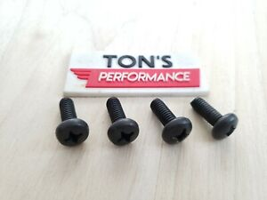 4 Replacement Auto License Plate Screws Stainless Steel Bolts Fits Lexus Black