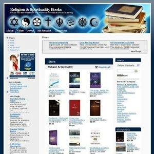 Religion Spirituality Book Store Online Business Website For Sale Free Domain
