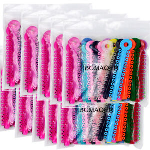 10xdental Orthodontic Stick Ligature Ties Rubber Bands Rings Elastic Multi color