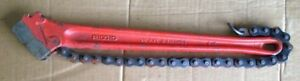 Rigid 31320 C 18 Heavy Duty Plumber Red Chain Wrench 2 1 2 Inch Pipe