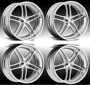 17 Polished Touring Pro Wheels Boost Forged Staggered 2 Piece Billet Alloy Adv1