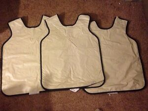 Rinn Lead 3 Mm Dental X ray Protective Apron Vest Lot Of 3