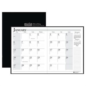 Ruled Planner With Stitched Leatherette Cover 8 1 2 X 11 Black 2013 2015 X3