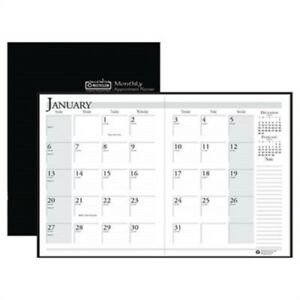 Ruled Planner With Stitched Leatherette Cover 8 1 2 X 11 Black 2013 2015 2 P