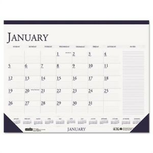 Two color Monthly Desk Pad Calendar W large Notes Section 22 X 17 2014 2 Pack