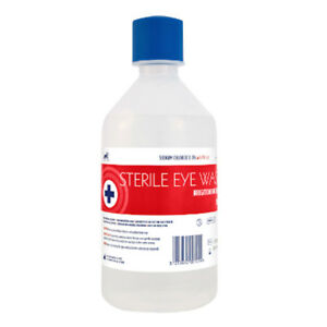 500ml Sterile Saline Eye Wound Wash Solution Bottle First Aid Eyewash Clean