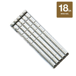 Collated Nails 18 Gauge Straight Finish Brad Nails 304 Stainless Steel 5000 Box