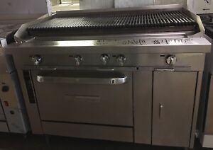 Southbend 48 Lp Gas Commercial Charbroiler W Convection Oven P48a cccc