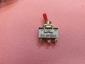 Lot X 11 636h Apem Toggle Switches Spdt 15a 125v 17 5mm On on