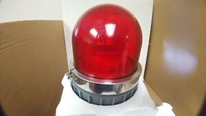Nib New Federal Signal Corp 371st 250r Commander Red Strobe Light Glass