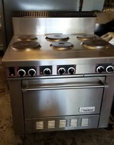 Garland Ss686 Sentry Series 6 Sealed Burner Electric Restaurant Range With Oven