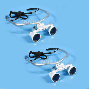 2 Set 2018 Dental Optical Surgical Binocular 3 5x Loupes Glasses Magnifier