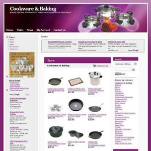 Cookware Baking Shop Online Affiliate Business Website For Sale Free Domain