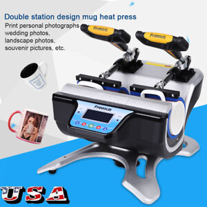Digital Double Stations Mug Heat Press St 210 Sublimation Transfer Print Machine