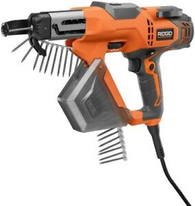 Ridgid Drywal Deck Collated Screwdriver 3 In Gun Corded Power Tool Orange