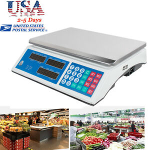 30kg Digital Weight Scale Price Computing Fruit Meat Deli Produce Shop Market Ce