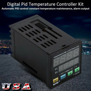 Digital Pid Temperature Controller F C 25a Ssr With Heatsink And Pt 100 Probe