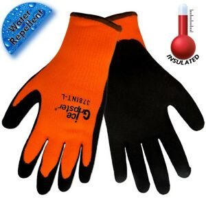 12 Pairs Global Glove Ice Gripster Water Repellent Cold Weather Work Gloves