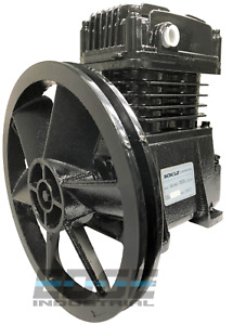 New Schulz Single Stage Cast Iron Air Compressor Pump 2 3 Or 5 Hp Free Filter