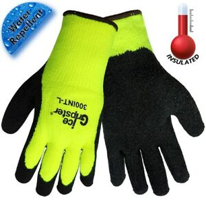 12 Pairs Global Glove Ice Gripster Coated Cold Weather Work Gloves