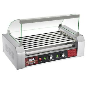 Great Northern Popcorn Commercial 18 Hot Dog 7 Roller Grilling Machine W Cover