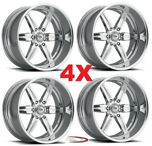 Pro Wheels Spitfire 6 17 Polished Custom Aluminum Billet Forged Rims Intro Mags