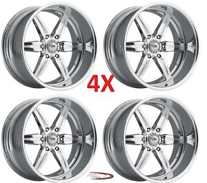 Pro Wheels Spitfire 6 22 Polished Aluminum Billet Forged Rims Intro Speed Foose