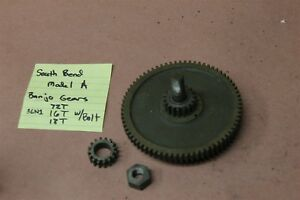 South Bend Model A 9 Lathe Change Gears 72t 16t 18t Banjo Gear Bolt