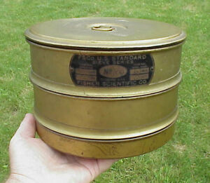 Vintage Brass Fisher Scientific Us Standard Sieve Series No 200 Sieves Lid Pan