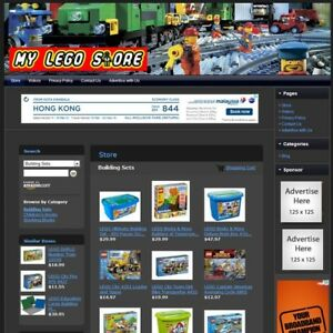 Lego Building Blocks Store The Best Online Affiliate Business Website For Sale