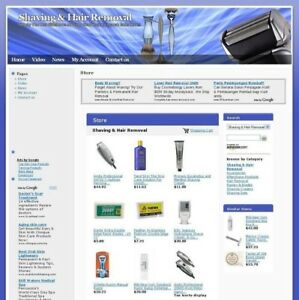 Value Shaving Hair Removal Online Business Website For Sale Free Domain Name