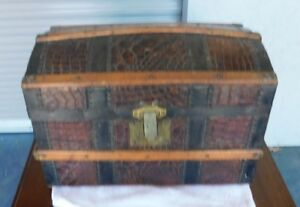 Antique Small Dome Top Trunk