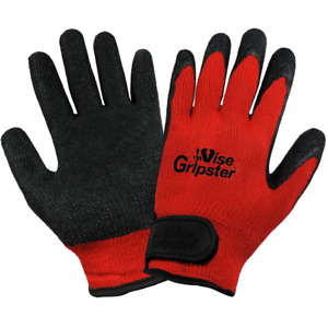 Global Glove Vise Gripster Palm Dipped Rubber Work Gloves 12 Pair