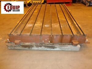 T slotted Floor Plate 110 X 72 X 12 T slots On 9 1 2 Centers